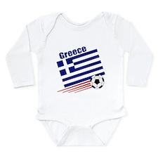Greece Soccer Team Long Sleeve Infant Bodysuit