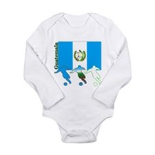 Guatemala Soccer Long Sleeve Infant Bodysuit