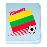 Lithuania Soccer Team baby blanket