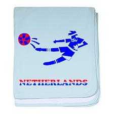 Netherlands Soccer Player baby blanket