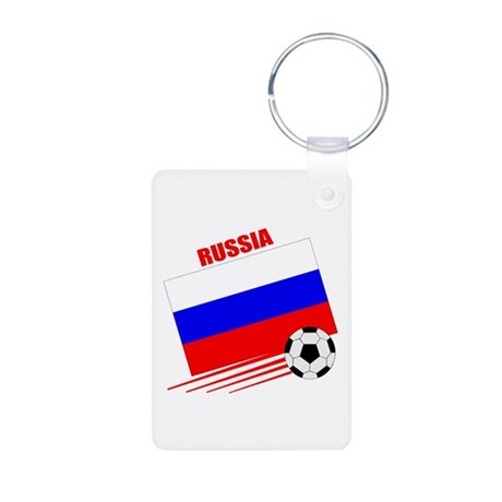 Russia Soccer Team Aluminum Photo Keychain