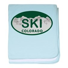 Ski Colo License Plate baby blanket