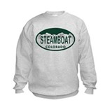Steamboat Colo License Plate Sweatshirt