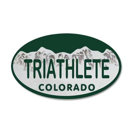 Triathlete Oval Colo License Plate 20x12 Oval Wall