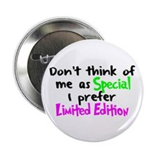 "Limited Edition Green/Pink 2.25"" Button"