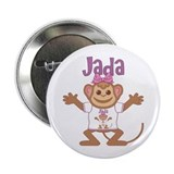 "Little Monkey Jada 2.25"" Button"