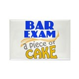 Bar Exam - Piece of Cake Rectangle Magnet
