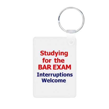 Bar Exam Aluminum Photo Keychain