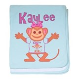 Little Monkey Kaylee baby blanket