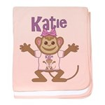 Little Monkey Katie baby blanket
