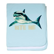 Bite Me Shark baby blanket