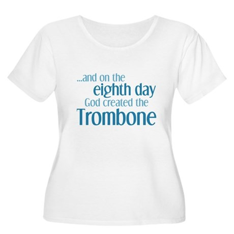 Trombone Creation Women's Plus Size Scoop Neck T-S
