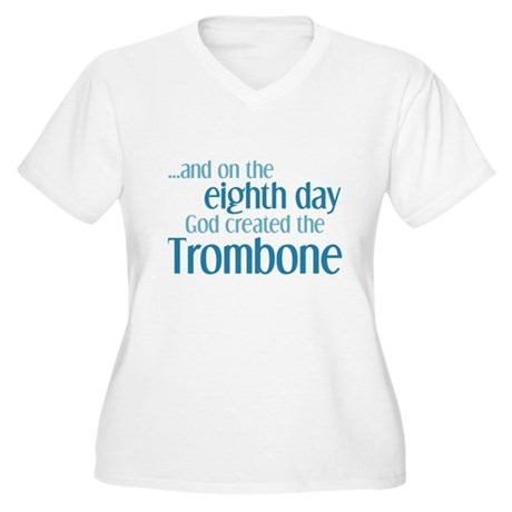 Trombone Creation Women's Plus Size V-Neck T-Shirt
