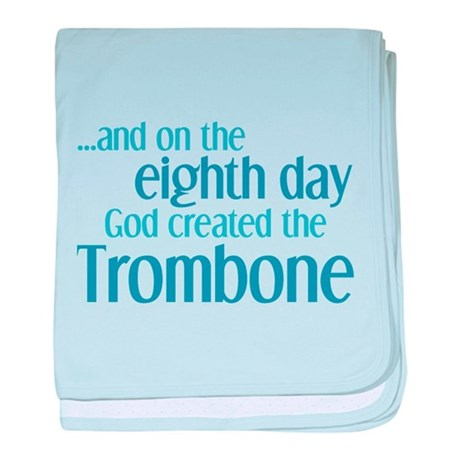 Trombone Creation baby blanket