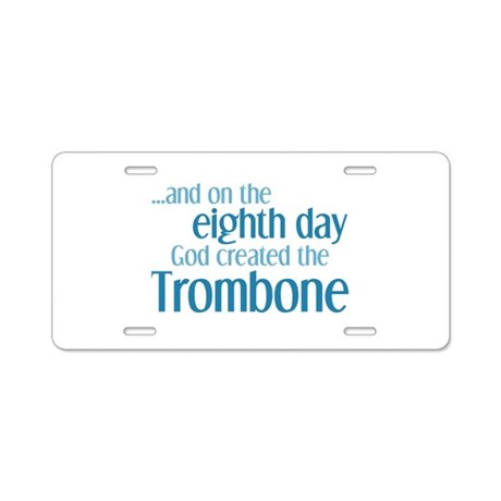 Trombone Creation Aluminum License Plate