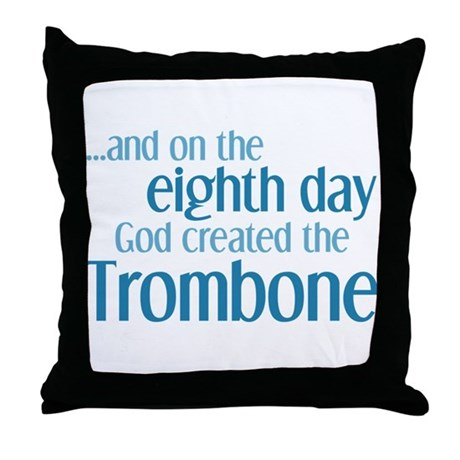 Trombone Creation Throw Pillow