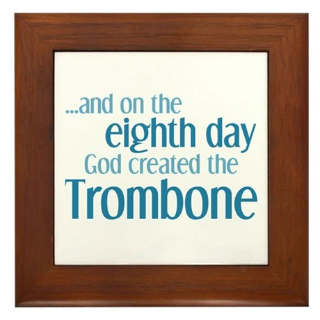 Trombone Creation Framed Tile
