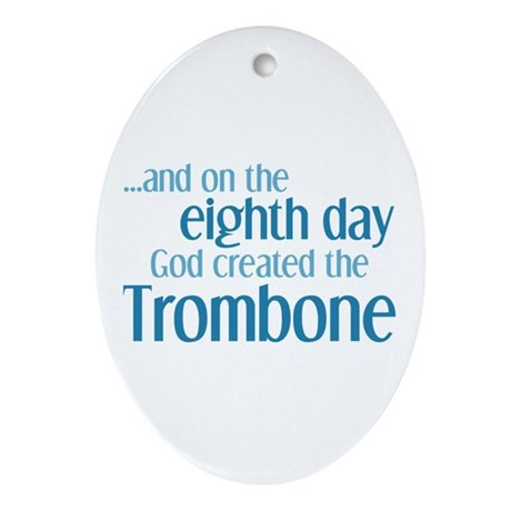 Trombone Creation Ornament (Oval)