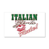 Italian Girls Rule Car Magnet 20 x 12