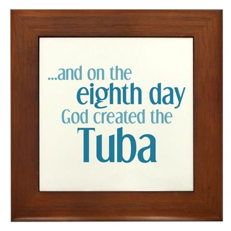 Tuba Creation Framed Tile