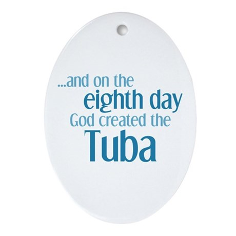 Tuba Creation Ornament (Oval)
