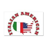 Italian american Car Magnet 20 x 12