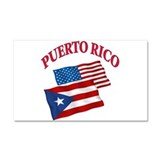 Puerto rican pride Car Magnet 20 x 12