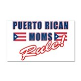 Puerto Rican Moms Rule Car Magnet 20 x 12