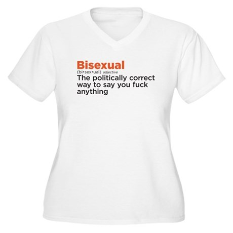 Bisexual politically correct Women's Plus Size V-N