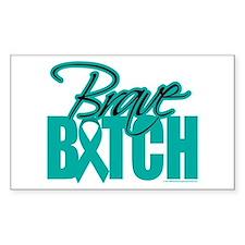 Brave Bitch Cervical Cancer Decal