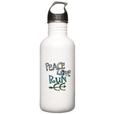 Peace Love Run CC Water Bottle