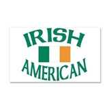 Irish American Car Magnet 20 x 12