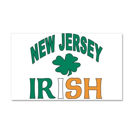 New jersey irish Car Magnet 20 x 12