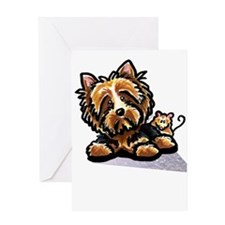 Norwich Terrier Cartoon Greeting Card