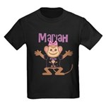 Little Monkey Mariah Kids Dark T-Shirt