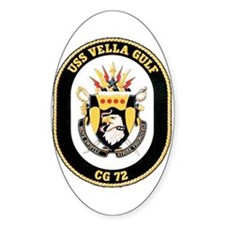 USS Vella Gulf CG-72 Oval Decal