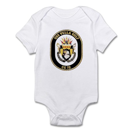 USS Vella Gulf CG-72 Infant Creeper