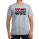 I Love My Amazing Wife Men's Fitted T-Shirt (dark)