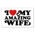 I Love My Amazing Wife Sticker (Rectangle)