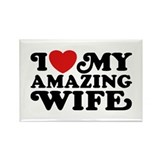 I Love My Amazing Wife Rectangle Magnet