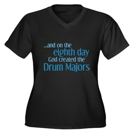 Drum Major Creation Women's Plus Size V-Neck Dark