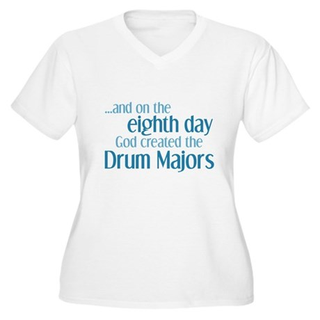 Drum Major Creation Women's Plus Size V-Neck T-Shi