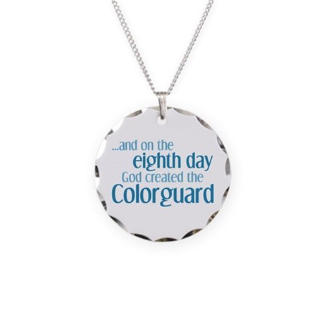 Colorguard Creation Necklace Circle Charm