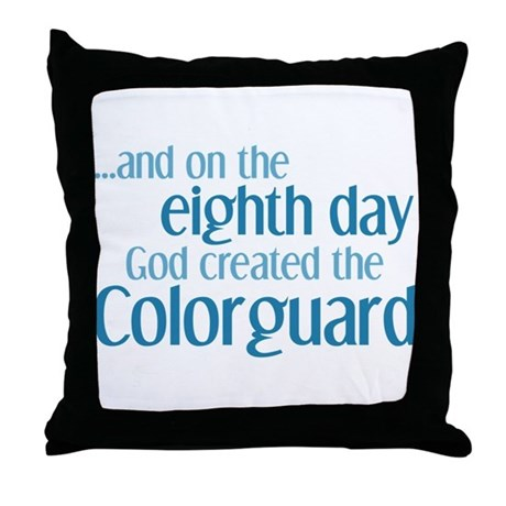 Colorguard Creation Throw Pillow