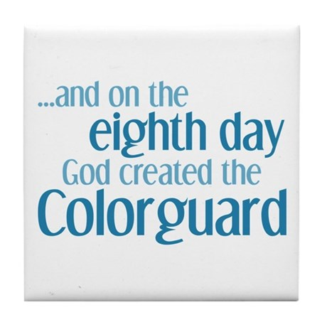Colorguard Creation Tile Coaster