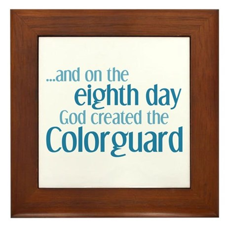 Colorguard Creation Framed Tile