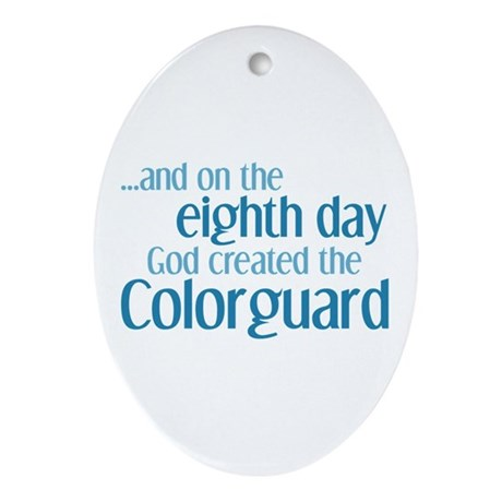 Colorguard Creation Ornament (Oval)