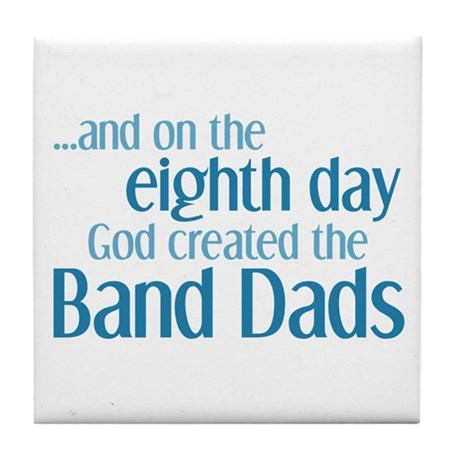 Band Dad Creation Tile Coaster