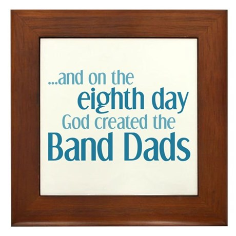 Band Dad Creation Framed Tile
