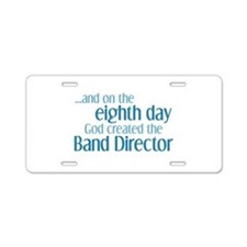 Band Director Creation Aluminum License Plate